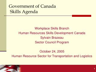 Government of Canada  Skills Agenda
