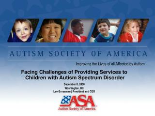 Improving the Lives of all Affected by Autism.