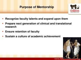 Purpose of Mentorship