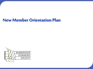 New Member Orientation Plan