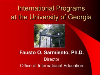International Programs  at the University of Georgia
