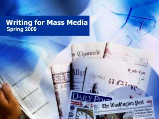Writing for Mass Media