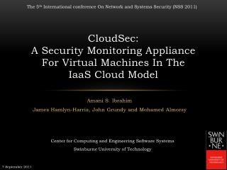 CloudSec: A Security Monitoring Appliance For Virtual Machines In The IaaS Cloud Model