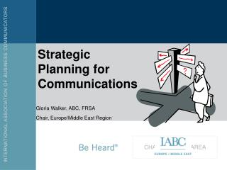 Strategic Planning for Communications