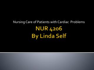 NUR 4206 By Linda Self