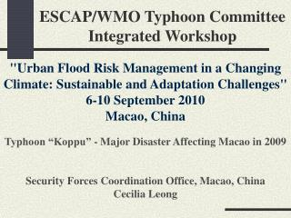 ESCAP/WMO Typhoon Committee Integrated Workshop