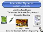 Interactive Systems Auburn University