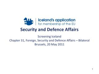 Security and Defence Affairs