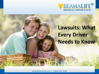 Lawsuits What Every Driver Needs to Know