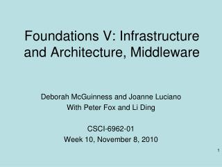 Foundations V: Infrastructure and Architecture, Middleware