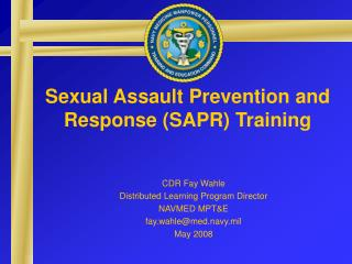 Sexual Assault Prevention and Response (SAPR) Training
