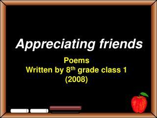 Appreciating friends