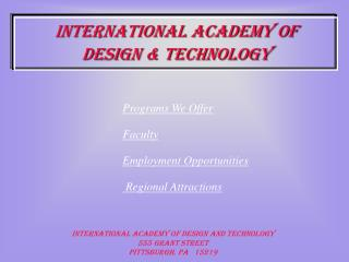International Academy of  Design & Technology