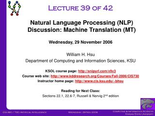 Lecture 39 of 42