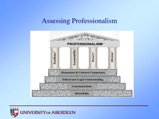 Assessing Professionalism