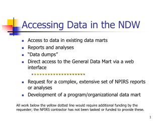 Accessing Data in the NDW