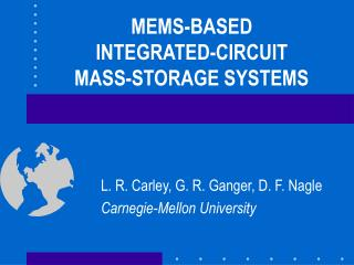 MEMS-BASED INTEGRATED-CIRCUIT MASS-STORAGE SYSTEMS