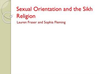 Sexual Orientation and the Sikh Religion