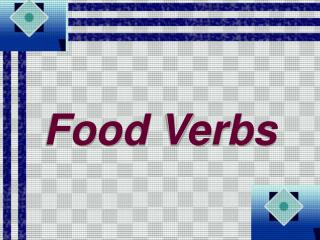 Food Verbs