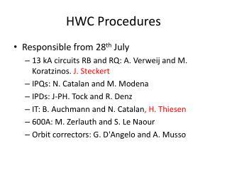 HWC Procedures