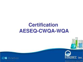 Certification  AESEQ-CWQA-WQA