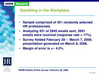 Gambling in the Workplace