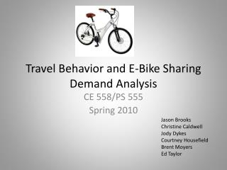 Travel Behavior and E-Bike Sharing  Demand Analysis