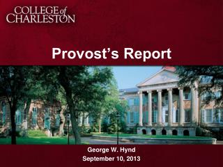 Provost's Report