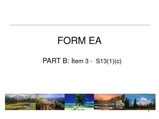 FORM EA