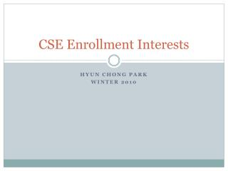CSE Enrollment Interests