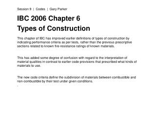 IBC 2006 Chapter 6 Types of Construction