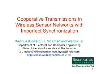 Cooperative Transmissions in Wireless Sensor Networks with Imperfect Synchronization