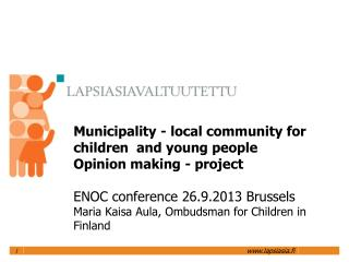 Why focus on municipalities?