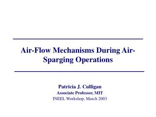 Air-Flow Mechanisms During Air-Sparging Operations