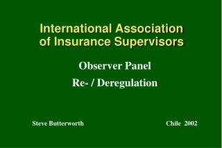 International Association of Insurance Supervisors