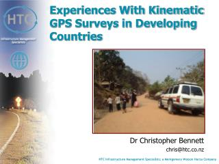Experiences With Kinematic GPS Surveys in Developing Countries