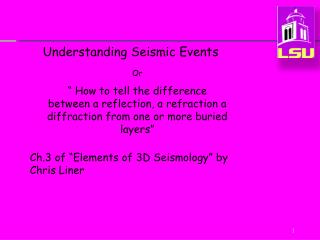 Understanding Seismic Events