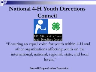 National 4-H Youth Directions Council