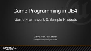 Game  Programming in UE4