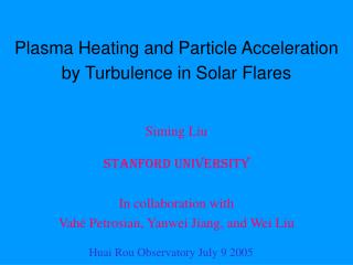 Plasma Heating and Particle Acceleration by Turbulence in Solar Flares