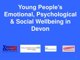 Young People's Emotional, Psychological & Social Wellbeing in Devon