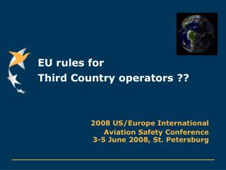 EU rules for  Third Country operators ??