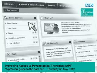 Improving Access to Psychological Therapies (IAPT)