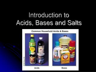 Introduction to  Acids, Bases and Salts