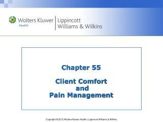 Chapter 55 Client Comfort  and  Pain Management