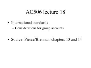 AC506 lecture 18
