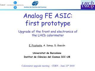 Calorimeter upgrade meeting – CERN – June 22 th  2010