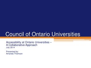 Council of Ontario Universities