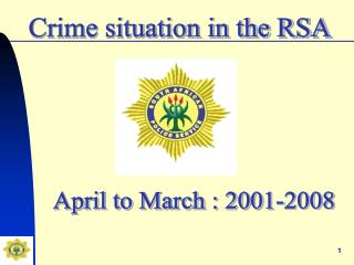 Crime situation in the RSA