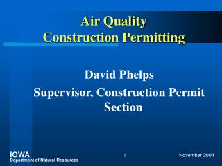 Air Quality Construction Permitting